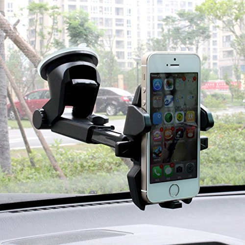Global3xchange - EASY ONE TOUCH TO Mount The Holder On Your DASHTOP for  iPhone 7 7 Plus 6s Plus 6s 5s 5c Samsung Galaxy S7 Edge S6 S5 Note 5 & 7,  360