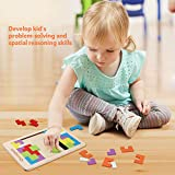 Coogam Wooden Blocks Puzzle Brain Teasers Toy
