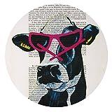 Deny Designs Coco De Paris, Jetset Cow, Round Clock, Round, 12″