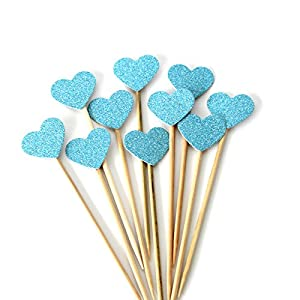 10pcs heart shape cupcake topper cake toppers cake decoration for birthday ceremony celebration wedding bamboo fruit cocktail forks party finger food bridal