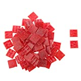 200g 20*20mm Vitreous Glass Mosaic Tiles Mix Arts & Crafts Red