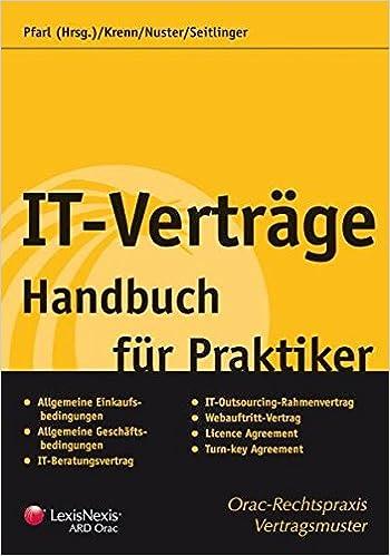 It Verträge Handbuch Für Praktiker Rechtspraxis Amazonde Jürgen
