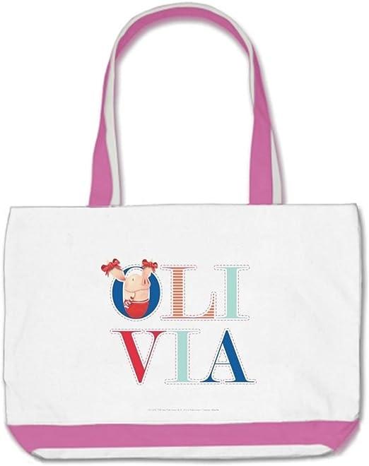 Para U M blanco/rosa Olivia Olivia libros algodón Classic bolsa bolsas: Amazon.es: Hogar