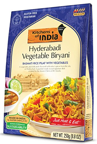 (Kitchens Of India Ready to Eat Hyderabadi Biryani, Basmati Rice Pilaf with Vegetables, 8.8-Ounces (Pack of 6))