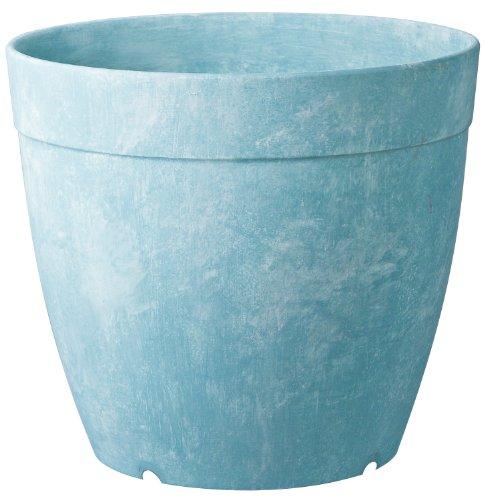 Artstone Dolce Round Planter, 8-Inch, Aqua