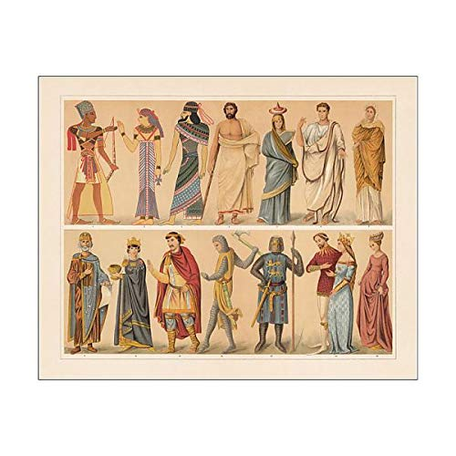 Media Storehouse 10x8 Print of Antique and Medieval Costumes, Chromolithograph, published in 1897 (18062771)
