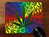 weed mouse pad - Weed Leaves Desktop Office Silicone Mouse Pad by Demon Decal