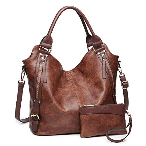 (2018 HOT Women Tote Bag Handbags PU Leather Fashion Large Capacity Hobo Shoulder Bags with Adjustable Shoulder Strap)