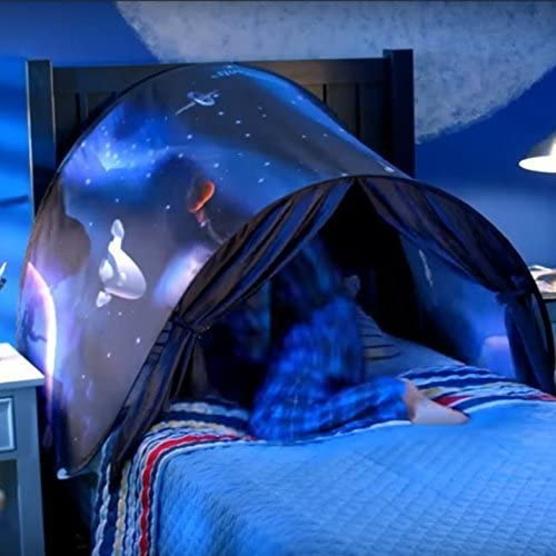 tent with led light for a bed