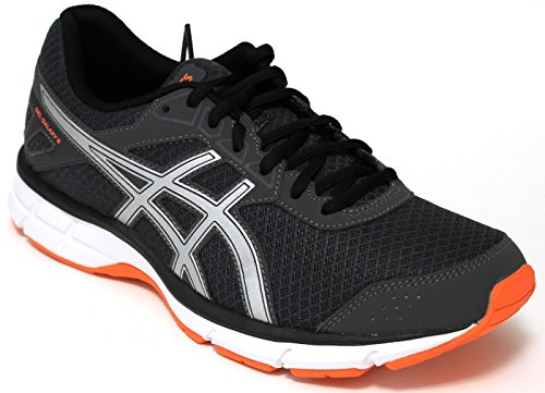 Asics zapatos Running Hombre – Gel Galaxy 9 – t6g0 N-9593 – Dark Grey/Silver/Shocking orange-42.5