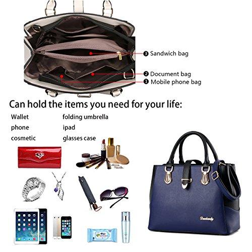 Tisdaini PU New leather ladies Messenger female bag wallet shoulder sapphire handbags capacity handbag large fashion rtrxHCTqw