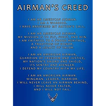 Amazon Com Us Air Force Creed Poster Usaf Creed Air Force