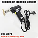 MT-D300 300W Mini handle branding machine Electric Iron cake mark Mark gilt leather Wood branding machine Stamping embossing machine(without mold,stamping area:≤3x6cm,220V/50Hz)