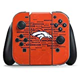 NFL Denver Broncos Nintendo Switch Joy Con Controller Skin - Denver Broncos Orange Blast Vinyl Decal Skin For Your Switch Joy Con Controller