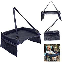 mk. park - New Baby Car Safety Seat Lap Tray Portable Table For Kids Travel Playing (Black)