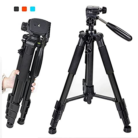 "Professional Camera Tripod (55"") Lightweight Travel, Adjustable Leg Length 