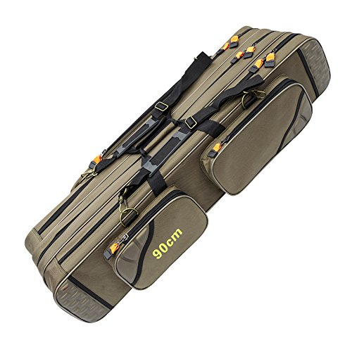 Fishing Tackle Packages Thickening Canvas Fishing Rod And Reel Organizer Travel Carry Case Bag (90cm)