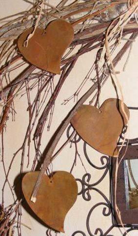 Rostikal - Décoration Extérieure - Coeurs décoratifs à accrocher