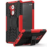 MoKo Huawei Mate 8 Case - Heavy Duty Rugged Dual Layer Armor with Kickstand Protective Cover for Huawei Mate 8 6-inch Smartphone 2015 Release, RED