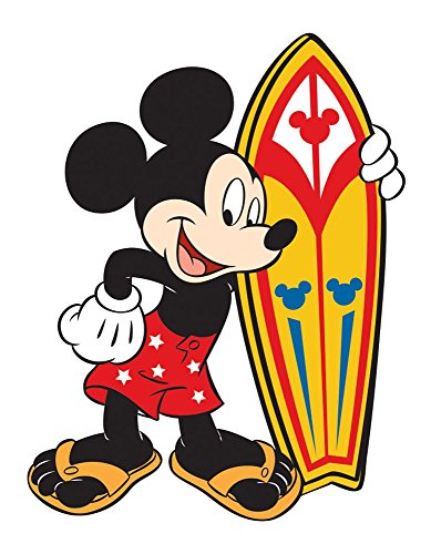 (Disney 85167 Mickey Mouse Surfer Standing Rubber Refrigerator fridge magnet, 3
