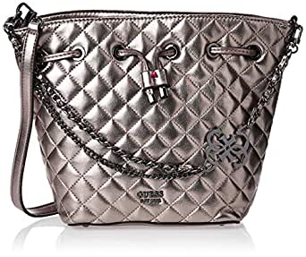 GUESS Womens Bucket Bag, Pewter - MM743630