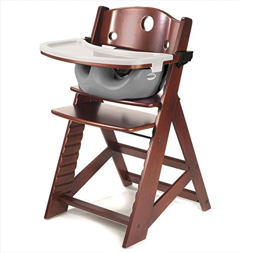 Height Right HIGH Chair Mahogany with Grey Infant Insert and