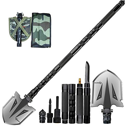 ANTARCTICA Military Folding Shovel Multitool Compact Backpacking Tactical Entrenching Tool for Hunting, Camping, Hiking, Fishing (Black) by ANTARCTICA (Image #6)