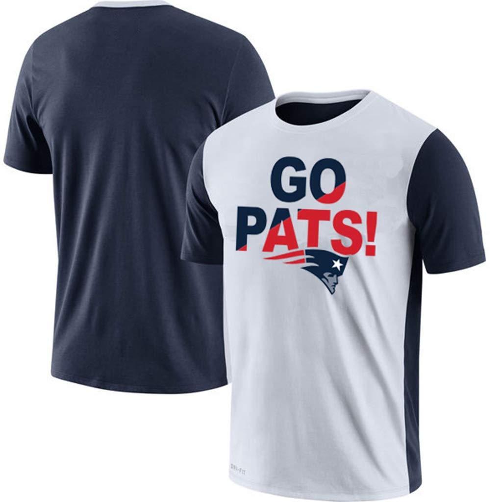Color : A, Size : XL HYYSH T-Shirt /à Manches Courtes for Hommes de la Nouvelle-Angleterre imprim/é /à Manches Courtes Rugby Sportswear Lettre Imprimer en Vrac