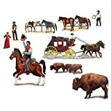 Club Pack of 108 Wild West Character and Animal Wall Decorations 4.3'
