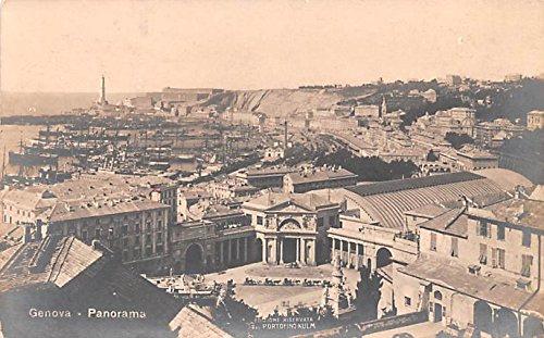 Panorama Genova Real Photo Italy Postcard
