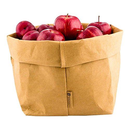Bags, Reusable Paper Bag, Durable, Long Lasting - Kraft - 7.9 x 9.8 Inches - Duralux - 1ct Box - Restaurantware ()