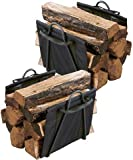 Panacea 15216 Log Totes with Stands, Black, Pack of 2