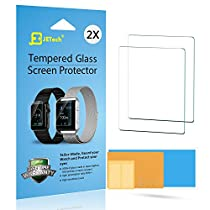 Fitbit Blaze Screen Protector, JETech 2-Pack Premium Tempered Glass Screen Protector for Fitbit Blaze Smart Watch - 0940