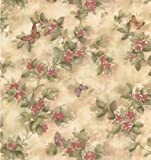 Brewster 414-38574 Mariposa Mauve Butterfly And Floral Trail Wallpaper