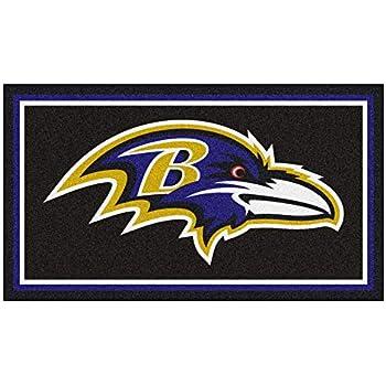 4e704f9b Amazon.com : NFL Baltimore Ravens 3 Ft. x 5 Ft. Area RUG3 Ft. x 5 Ft ...