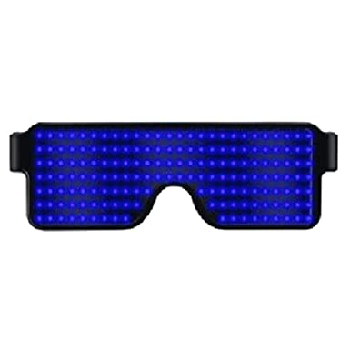 Goyajun Luminoso LED Gafas, Seguridad Recargable Gafas ...