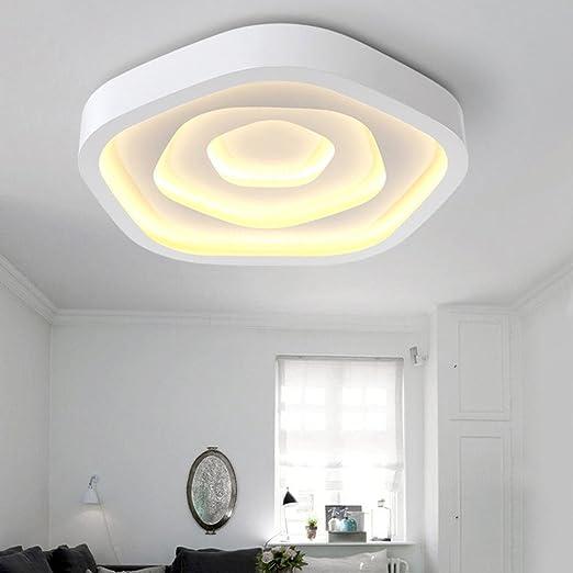 Luz de techo moderna de 83 W, lámparas de techo de acrílico ...