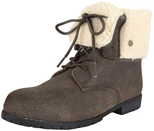 BEARPAW Womens Jeanette Snow Boots, Brown Sheepskin, 11 M