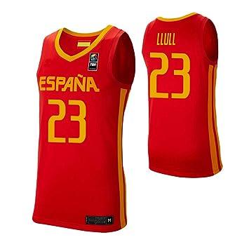 K&Q Camiseta Sergio Llull Selección Española de Baloncesto Rojo 2019 Hombre