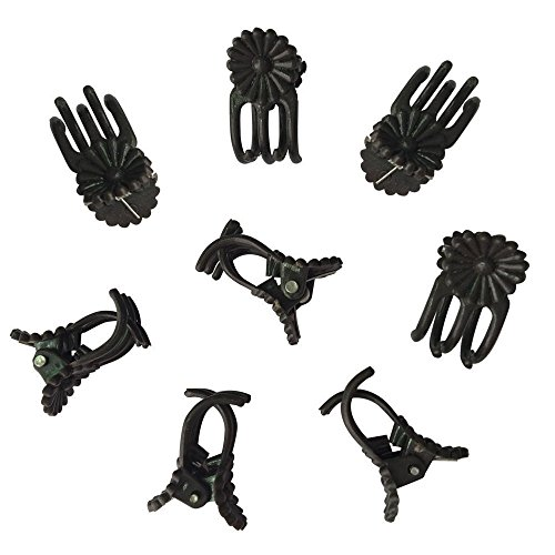 Clip Orchid Medium (KINGLAKE 100Pcs Orchid Daisy Clips Garden Flower Plant Support Clips to Keep Plant Neat and Healthy (Small+Coffee))