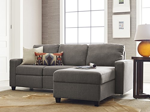 Right Reclining Sectional - Serta Palisades Reclining Sectional with Right Storage Chaise - Gray