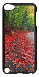 Rainy Autumn Forest Polycarbonate Hard Case Cover for iPod Touch 5 - Transparent