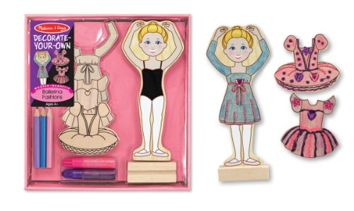 Melissa & Doug Decorate-Your-Own Wooden Magnetic Ballerina F