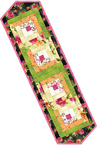 Paradise Log Cabin Table Runner Pod Quilt Kit Maywood Studio