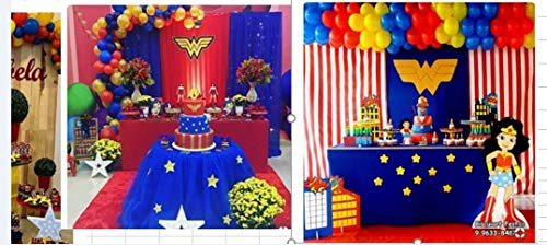 PartyWoo Red Yellow Blue and Gold Balloons 85