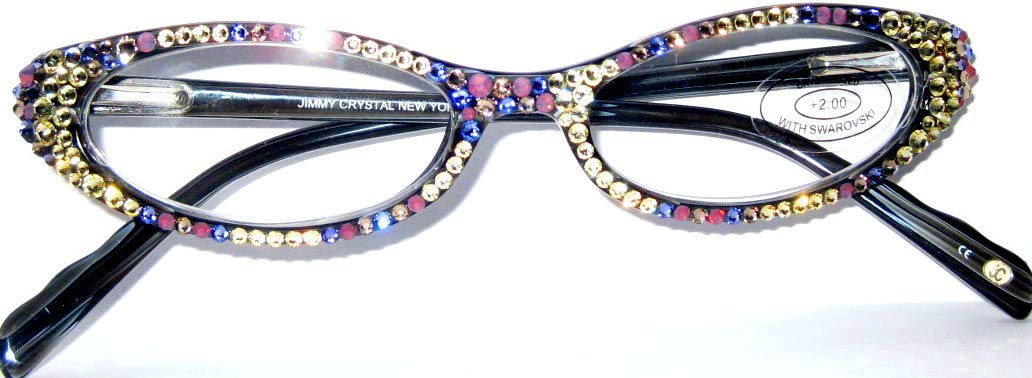 ad01b5cf35b Amazon.com  Reading Glasses 2.00 with Sparkling Swarovski Elements by Jimmy  Crystal NY  Health   Personal Care
