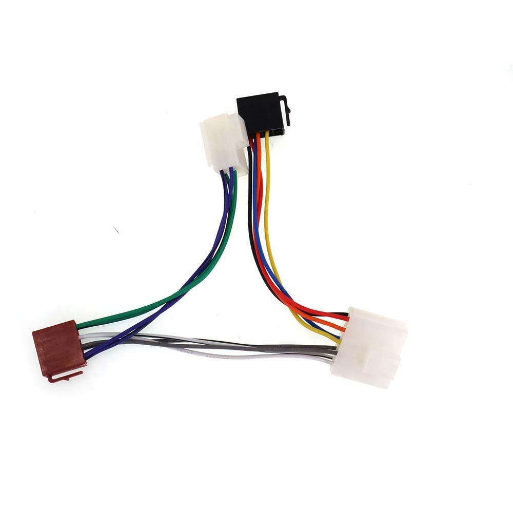 ZWNAV ISO cablaggio adattatore radio per Nissan 1983 + ISO radio cavo ISO cablaggio adattatore di alimentazione cavo connettore Autostereo TECH