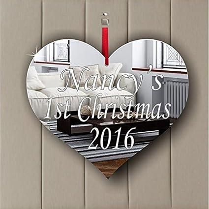 Love Heart Acrylic Mirror Ornament - Window Hanging - Ceiling - Door - Nursery - Children - Room Decoration Mirrors-interiors