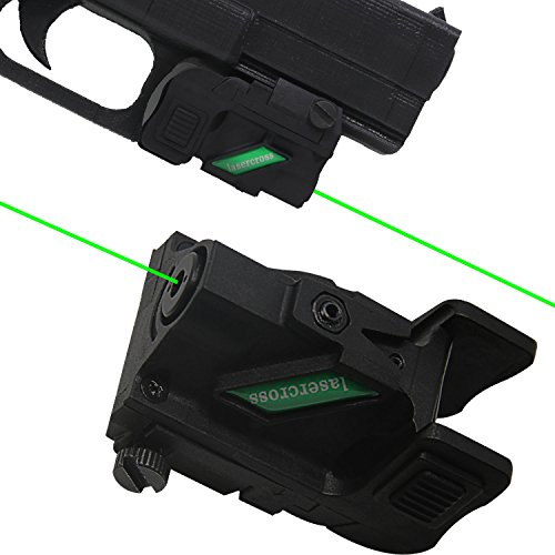 Lasercross RGB01 Green Dot Laser Sight, Portable Compact Sight with 20mm  Rail Picatinny On/Off Switch for Rifle Handgun Pistol Airsoft Air Soft Optic