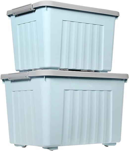 WBBSN Caja de Almacenamiento Caja de Almacenamiento de plástico ...